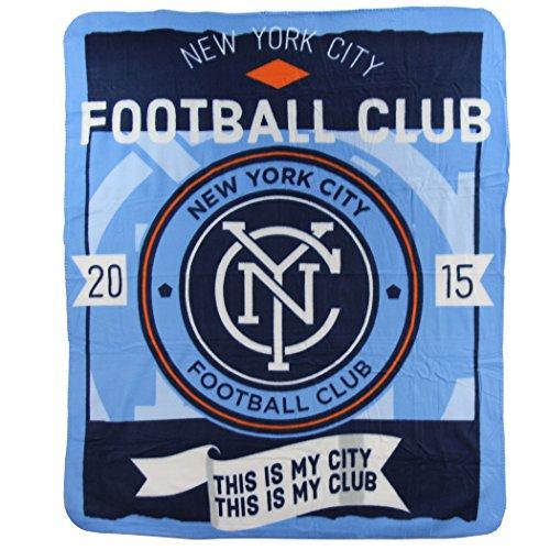 The Northwest Company New York City Football Club MLS My City Design 50x60 Fleece Throw Blanket