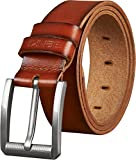 Belts for Men - Full Grain Men's Genuine Leather Belt -Trimmed to Fit(44-46, TAN)