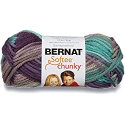 Bernat Softee Chunky Ombre Yarn - (5) Bulky Chunky Gauge 100% Acrylic - 2.8 oz - Shadow - Machine Wash & Dry