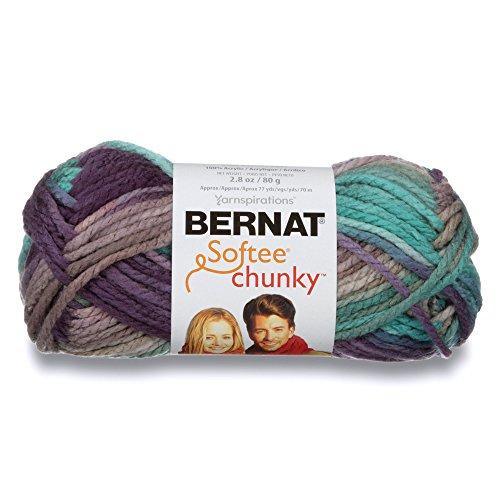 Bernat Softee Chunky Ombre Yarn, 2.5 oz, Gauge 5 Bulky Chunky, 100% Acrylic, Shadow -
