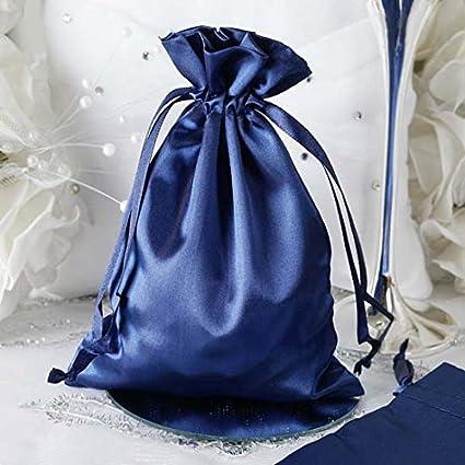38ed813c0061 Amazon.com: Efavormart 12PCS Navy Blue Satin Gift Bag Drawstring ...