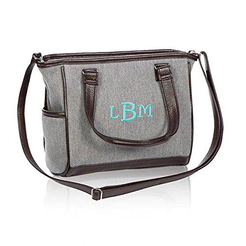 Thirty One Mini Cindy in Grey Brushed Twill - No Monogram - 4746 - Cindy Tote