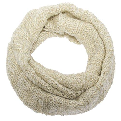 The Royal Standard Infinity Scarf Cute Winter Scarf Warm Lightweight Wrap Metallic Loose Knit