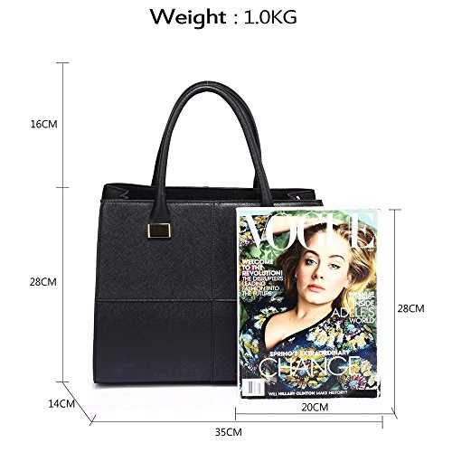 NUDE Quality Chic Tote Handbags Designer BLACK LeahWard Women's Bags CWS00153L Fashion Ladies qxIPX