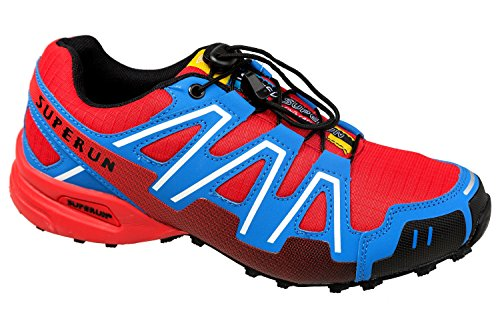 gibra - Zapatillas de running de textil/sintético para hombre rojo y azul