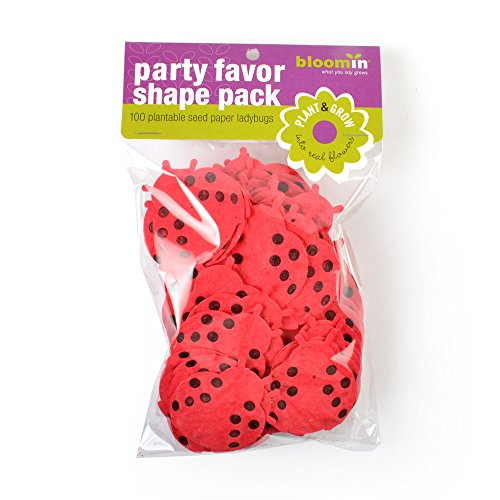 Bloomin Seed Paper Shapes Packs - Lady Bug Shapes - 100 Shapes Per Pack - 1.8x2