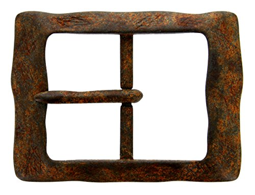 AC2249- Center Bar squared Vintage Rusty Belt Buckle For Men 1.5