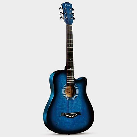 Miiliedy Negro Retro 38 pulgadas Guitarra Principiante Estudiante ...