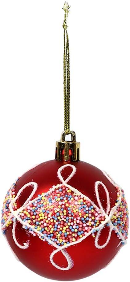YZCH Christmas Decorations Lot de 12 d/écorations de No/ël en forme de boules de No/ël