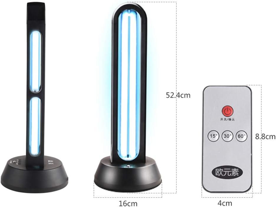 Womdee L/ámpara de esterilizaci/ón UV desinfectante LED de Control Remoto /área de Mascotas para el hogar del autom/óvil con Base de l/ámpara 38W