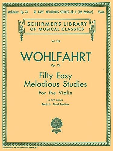 50 Easy Melodious Studies, Op. 74 - Book 2: Violin - G Schirmer Violin Strings