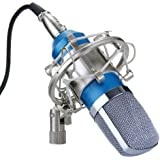 Excelvan Condenser Sound Recording Microphone and Shock Mount (Blue)