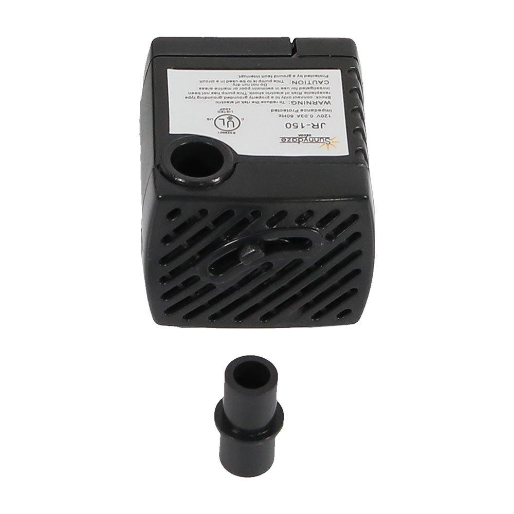 Sunnydaze 40 GPH Submersible Electric Pump for Hydroponics, Aquaponics, Small Fountains, and Aquariums, 120 Volts