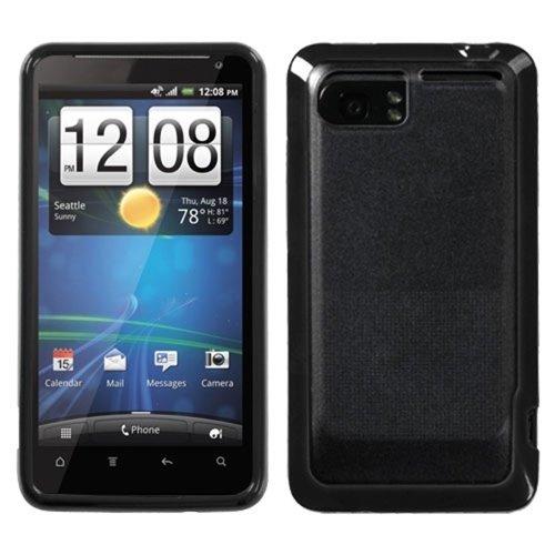 MYBAT HTCVIVIDCASKGM0027NP Sensual Gummy Transparent Protective Case for HTC Vivid - 1 Pack - Retail Packaging - Smoke/Solid - Smoke Transparent Design Faceplate