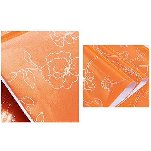 Modern Flower Print Self Adhesive Wallpaper PVC Art Sticker Decal Decoration ()