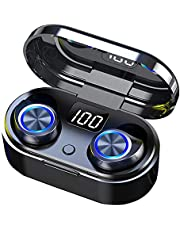 Wireless Earbuds with Touch Control 5.0 Bluetooth Earphones, Wireless Charging Waterproof HD Stereo in-Ear Headphones with Built-in Mic