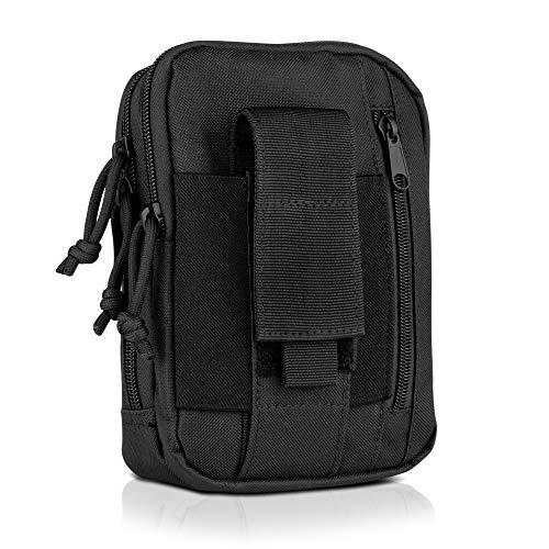 Savior Equipment Tactical Multi-Purpose MOLLE Pouch Belt Hanging Compact Waist Bag - EDC Gear Utility Gadget Tool Holder Cell Phone Wallet Holster