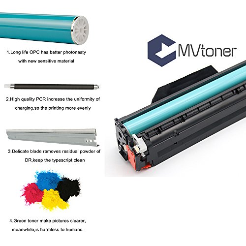MVToner Compatible HP 201X CF400X/CF401X/CF402X/CF403X Toner Cartridges  4-PACK (KCMY) Replacement for HP Color Laserjet Pro M277dw M252dw M277n MFP