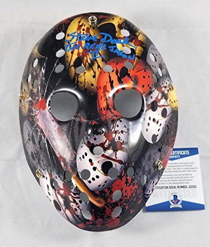 STEVE DASH SIGNED JASON CUSTOM MASK FRIDAY THE 13TH 2 BECKETT BAS COA - Usps Day 2 Time Priority Mail