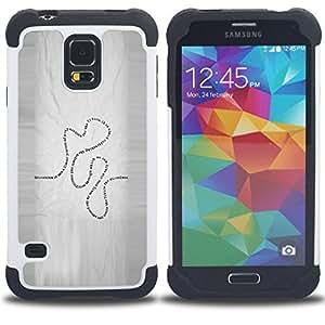 For Samsung Galaxy S5 I9600 G9009 G9008V - Present Life Education Learning Quote Road /[Hybrid 3 en 1 Impacto resistente a prueba de golpes de protecci????n] de silicona y pl????stico Def/ - Super Marley