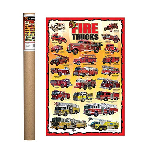(EuroGraphics Fire Trucks Kids Poster, 36 x 24 inch)