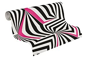 Lars Contzen papel pintado Life is Punk! rosa negro blanco 10,05 m x 0,53 m 881212