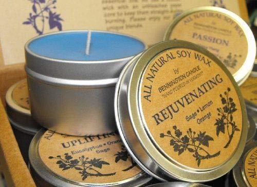 All Natural Soy Wax by Bennington Candle (Uplifting) - Eucalyptus, Orange, Sage