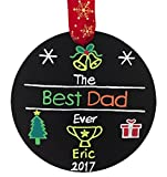 Best Dad Ever, Personalized Christmas Ornament, Dad Christmas Ornament, Dad Personalized Gift, Custom Christmas Ornament, Free Burlap Bag