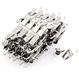 uxcell Household Window Shower Drapery Curtain Rod Hook Clips Clamps 100 Pcs