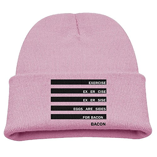 Yimo Exercise Eggs Are Sides For Bacon Kids Graphic Beanies Black