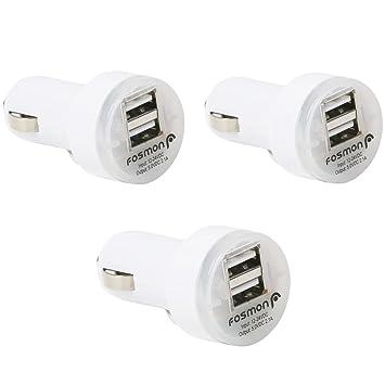 cargador coche - Fosmon 2100mAh Alto Voltaje Dual Puerto USB Cargador de coche para iPhone 7, Moto G4/G4 Plus, LG teléfono inteligente, tableta y ...