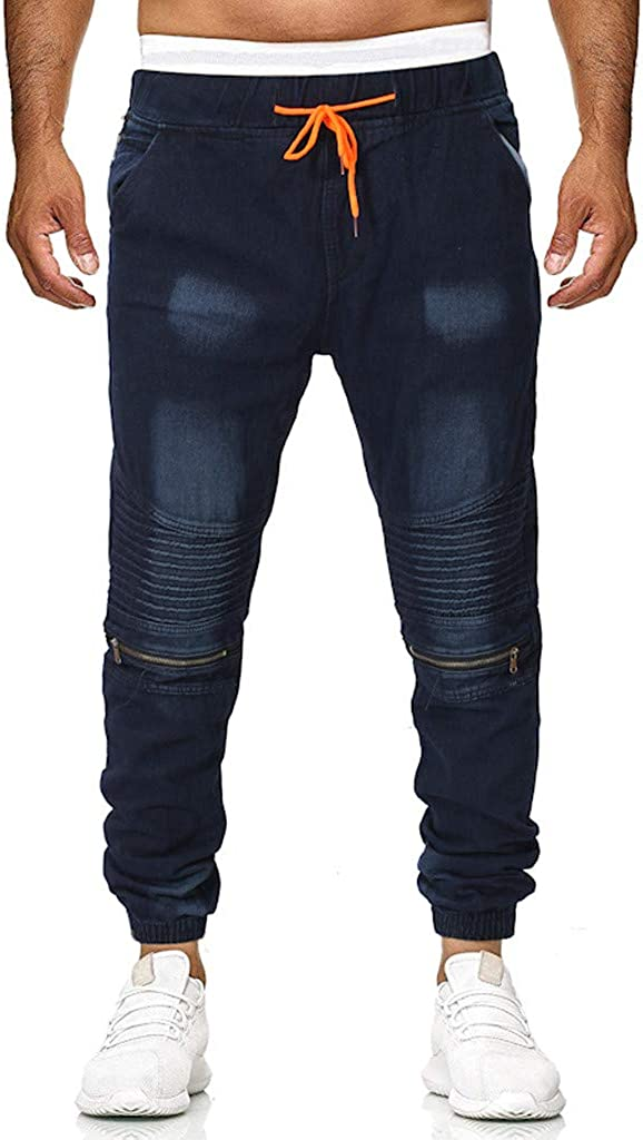 Sports Pants Gym Cargo Beach Shorts Fashion Mens Casual Jeans Destroyed Denim Knee Length Hole Ripped Pants