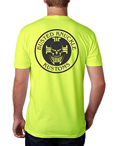 Jerzees Busted Knuckle HI VIS Safety Green High Visibility Short Sleeve Construction Biker T Shirt (XL)