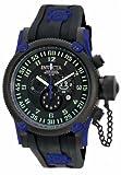 Invicta Men's 10180 Russian Diver Chronograph Black Dial Black Silicone Watch