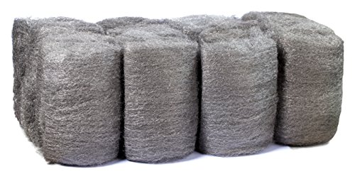 16 Pads Steel Wool, Very Fine No. 0000, Finest Grade, Scouring Pad, For Cast Iron, Dishes, Pots, Pans and For All-Purpose. - Hyde Wall Cabinet