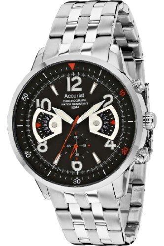 (Accurist Men's Stainless Steel Bracelet Watch MB1020B.01)