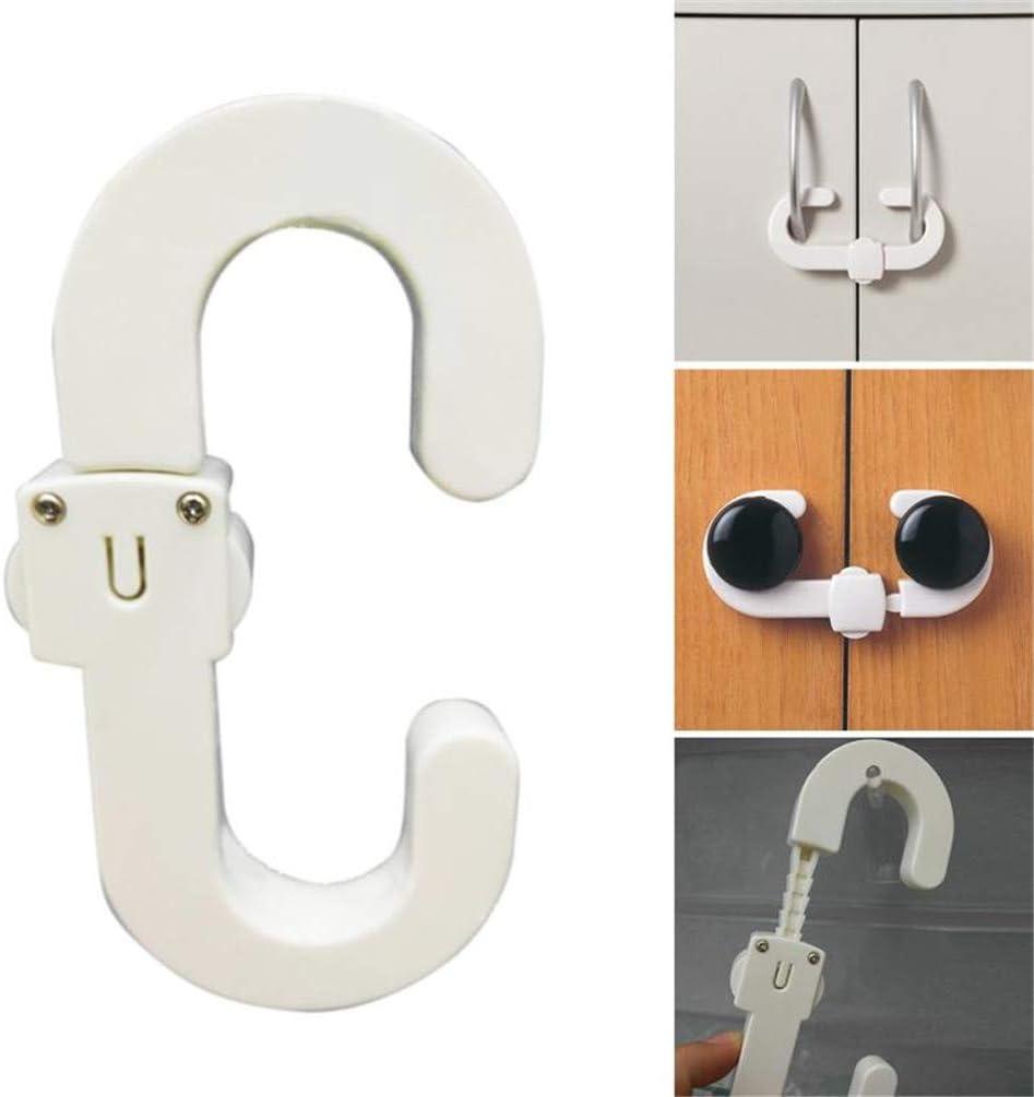 NROCF 4Pcs C Shape White Kitchen Drawer Cupboard Door Drawer Fridge Box Kids Baby Safety Safe Lock Furniture Protect Lock