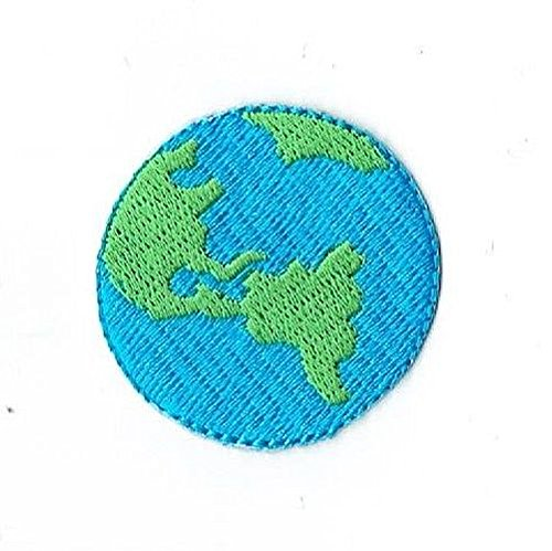 Planet Earth World Iron on Embroidered Patch (Planet Patches Earth)