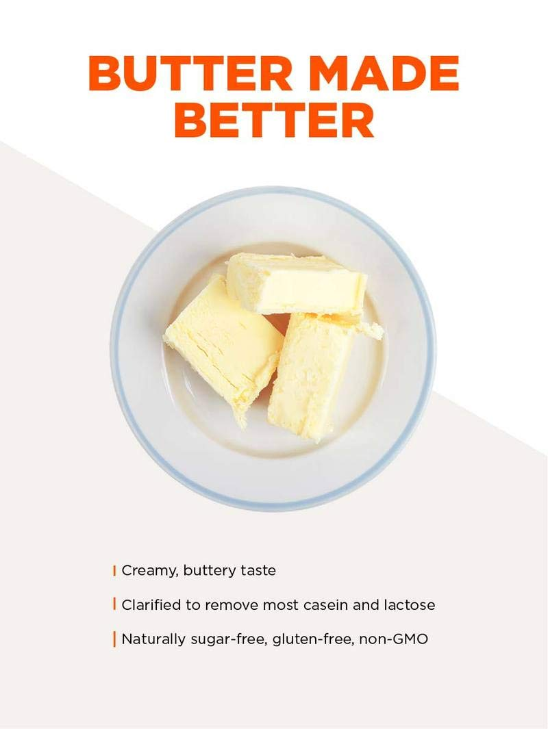 Bulletproof Grass-Fed Ghee, Quality Clarified Butter Fat from Pasture-Raised Cows, Gluten-Free, Non-GMO (8 oz) by Bulletproof (Image #4)