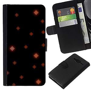 """Be-Star la tarjeta de Cr¨¦dito Slots PU Funda de cuero Monedero caso cubierta de piel Para Samsung Galaxy Core Prime ( Cuadrados del papel pintado Arte Rojo Negro"""" )"""