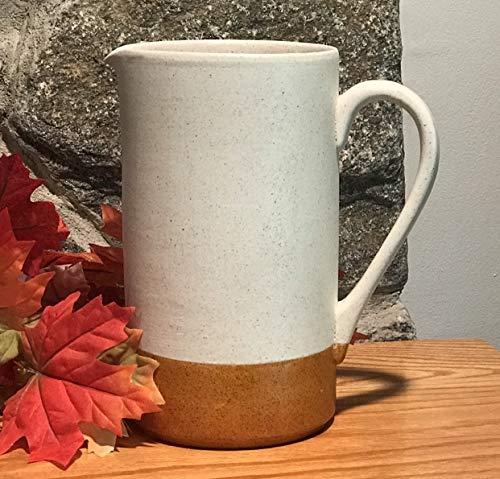 Pretty vanilla spice and pumpkin glazed ceramic pitcher