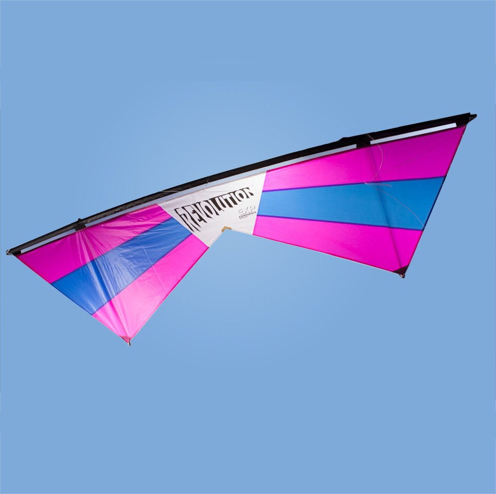 Revolution EXP Quad Line Stunt Kite Raspberry Blue Made in the USA by Revolution Kites