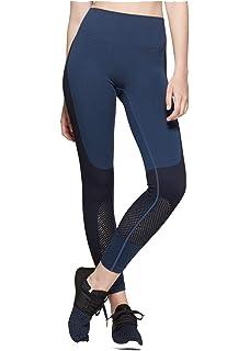 7ba7fcc3330a9 JoyLab Women's Comfort High-Waisted 7/8 Leggings with Mesh Panel and ...