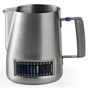Diamo Stainless Steel Milk Frothing Pitcher With Integrated Thermometer (20-oz/600ml) from Diamo Coffee