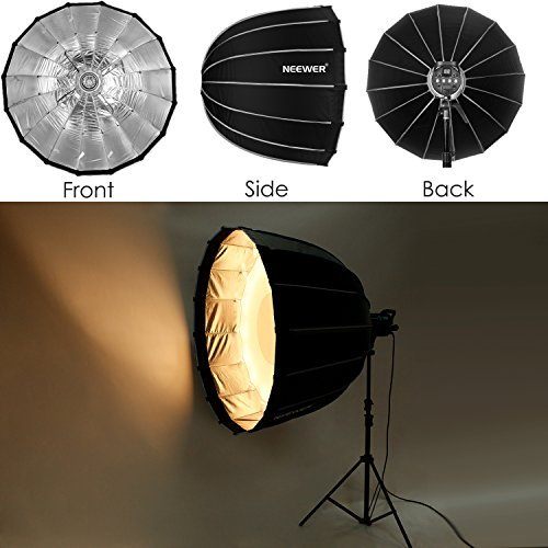 Neewer Hexadecagon Softbox 36 inches/90 Centimeters with Grey Rim and Bowens Mount, Portable and Quick Folding Softbox Diffuser for Photography Speedlites Flash Monolight and More