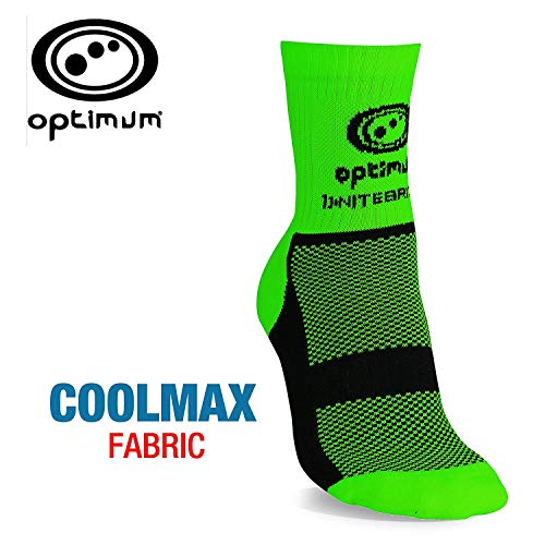 (Optimum Green Nitebrite Hi-Viz Coolmax Winter Cycling Socks, Size 7-11)