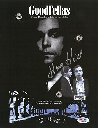 Henry Hill Signed Goodfellas Authentic Autographed 8.5x11 Photo PSA/DNA COA