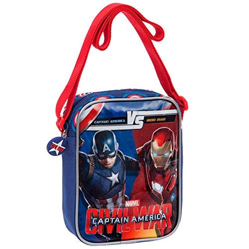 Sac à Bandoulière Sacoche Iron Man Vs Captain America - Civi Civil War