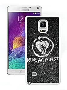 Grace and Nice Case rise against Samsung Galaxy Note 4 Case in White