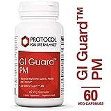 Protocol For Life Balance - GI Guard™ PM - with PepZin GI®, Melatonin, L-Tryptophan & B Vitamins to Support Gastrointestinal Processes at Night - 60 Veg Capsules